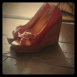 BCBG Max Azria Sky High Wedge Sandals